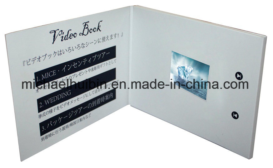 Customized 2.4 Inch TFT LCD Promotion Video Greeting Card (VC-024)
