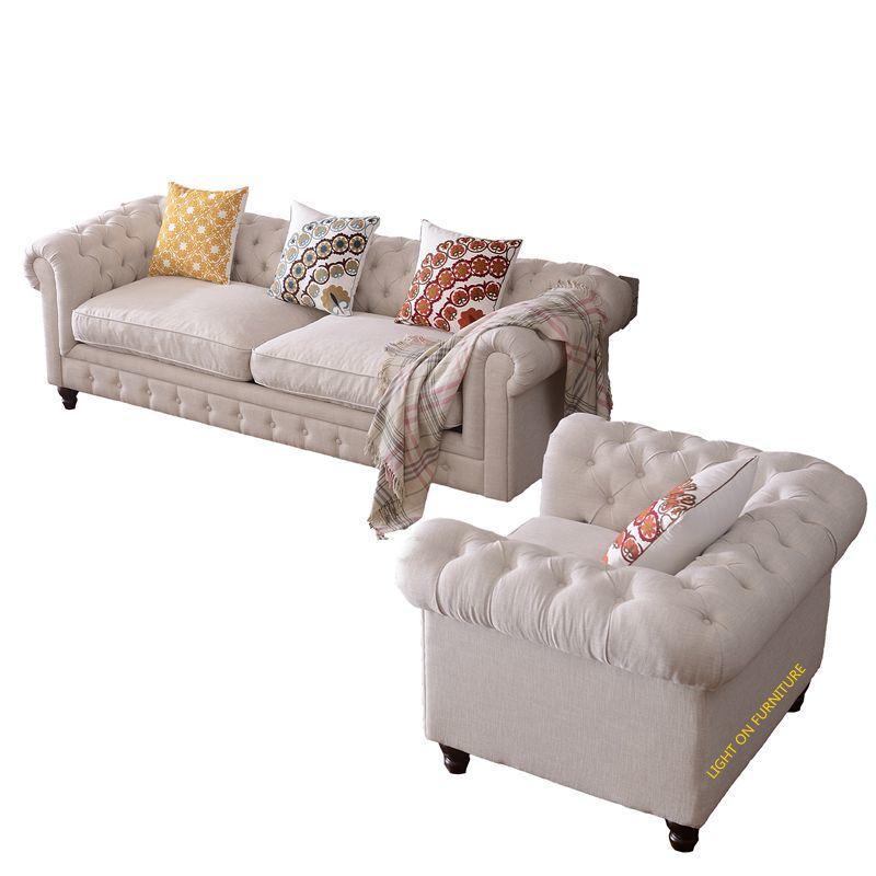 Living Room American Style Fabric Sofas (F721)