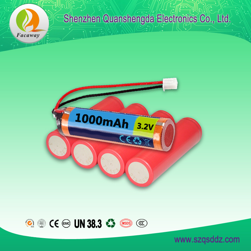 (QSD-Y0013) 3.2V 1000mAh 18650 Li-ion Battery China