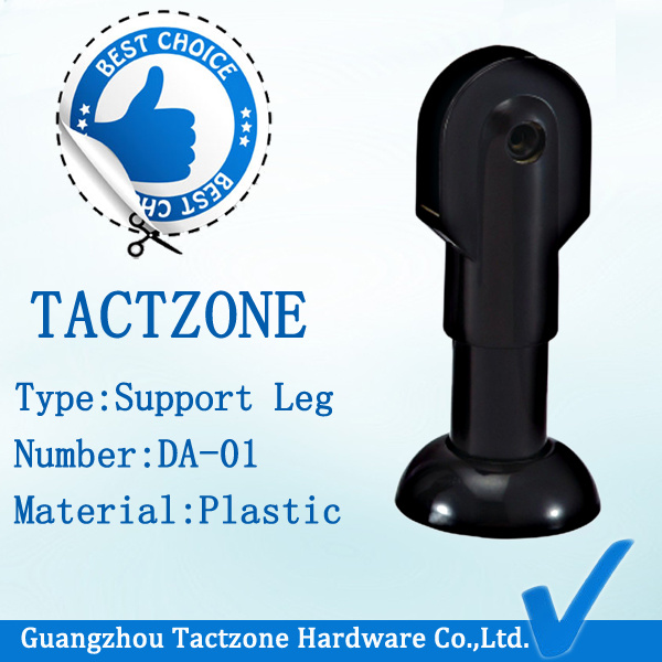Plastic Black Toilet Partition Adjustable Support Legs