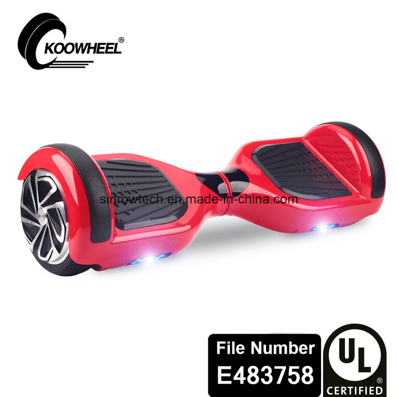 UL2272 Safe Certificate Koowheel 6.5 Inch Two Wheels Hoverboard Red