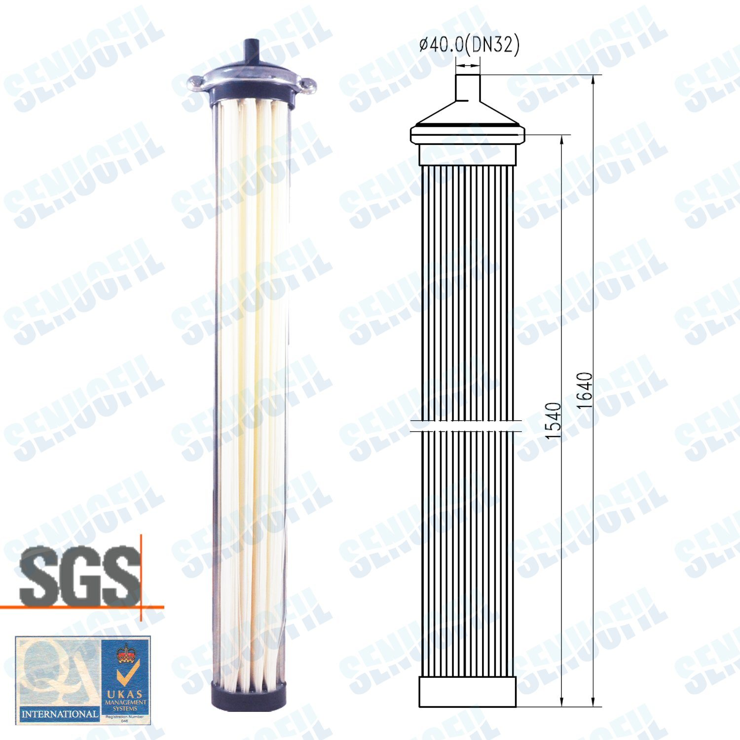 Senuofil Submerged Columnar Mbr Membrane Module for Water Treatment