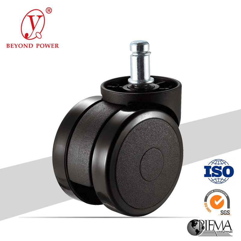 60mm PVC Office Chair Wheel Castor   Casters Furniture Caster Wheel Factory Chair Caster