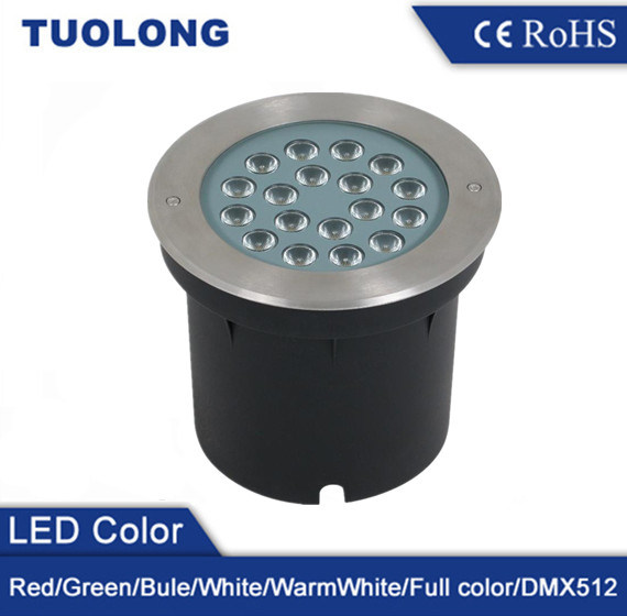 Hot Sale Round Type 18W RGB LED Underground Light with DMX Control