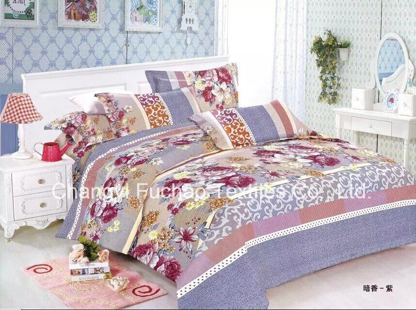 100% Microfiber Printed Complete Bedding Sheets Set with Soft and Cozy Touch Flat Sheets