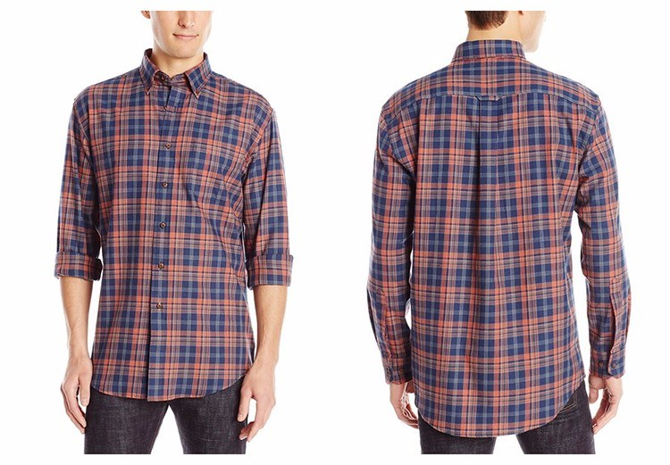 Men′s Dress Long Sleeve Classic Fit Plaid Shirts