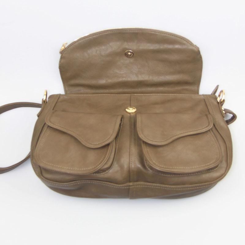 Women PU Shoulder Bag Black Ladies PU Handbag