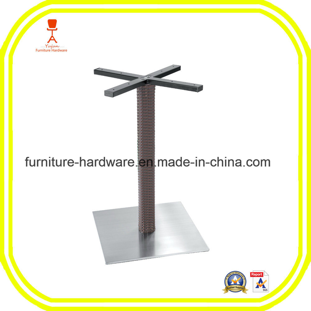 Standard Furniture Hardware Parts Dining Table Leg with Square Base