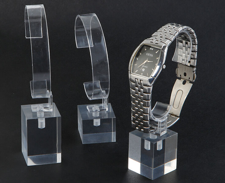 New Clear Acrylic Watch Display Stands
