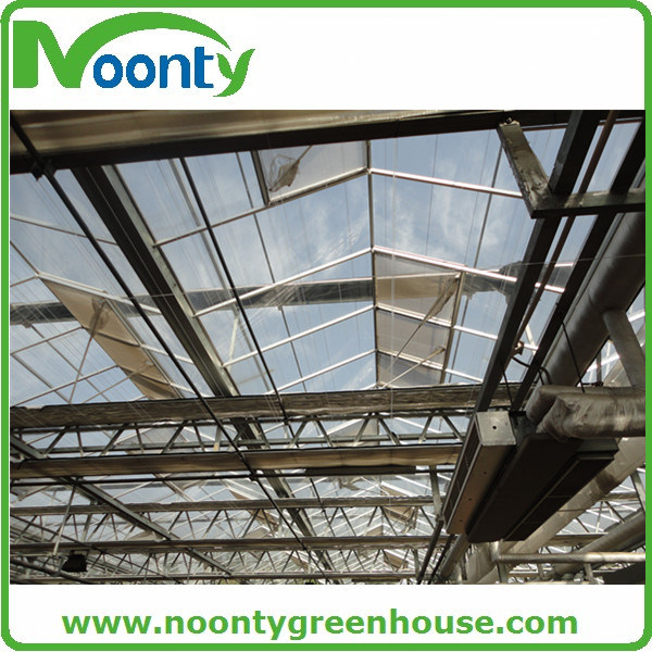 Standard Intelligent Multi-Span PC Greenhouse with Outside Shading Net System