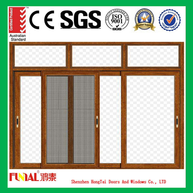Clear Tempered Insulated Glass Sliding Aluminum Window