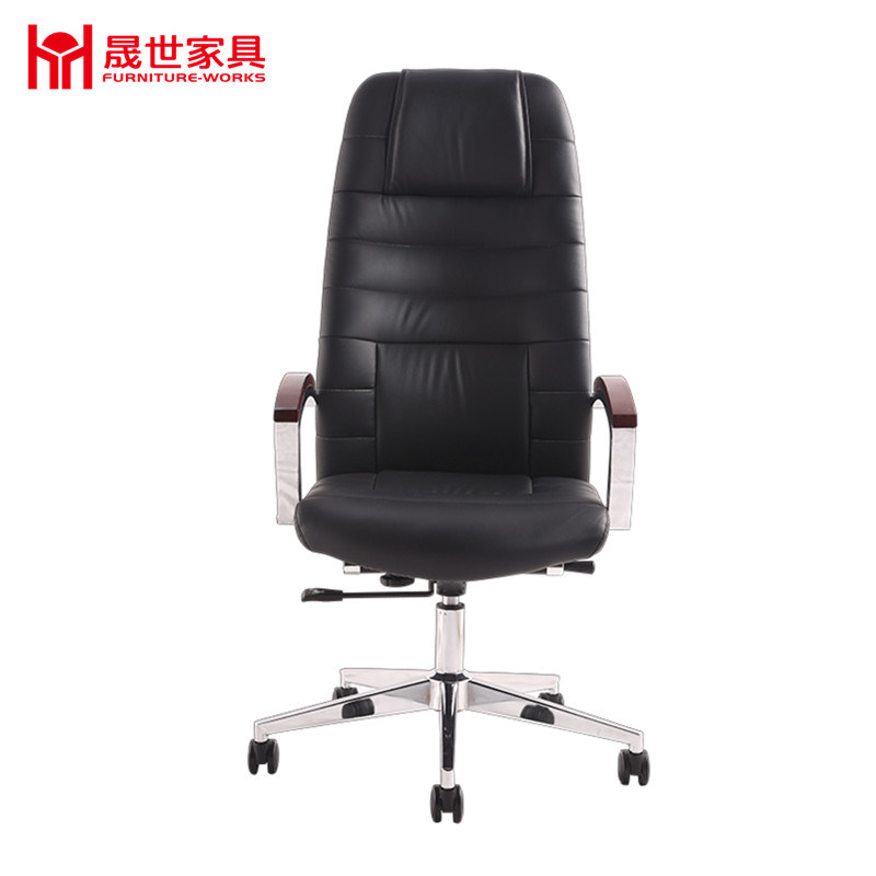 High Back Swivel Leather Office Chair, Meeting Chair.