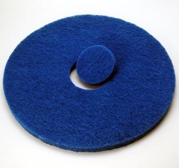 Blue Nylon Diamond Waxing Polishing Abrasive BBQ Floor Pad