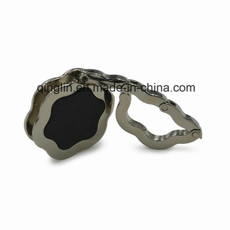 Custom Fashion Flower Folding Epoxy Coated Bag Hanger