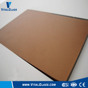 6mm Golden Bronze Float Glass with CE&ISO9001