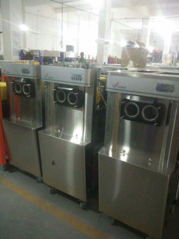 Stainless Steel Soft Ice Cream Machine Frozen Yogurt Machine
