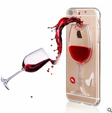 Red Wine Cup Mobile Phone Case for iPhone 5/6/7plus