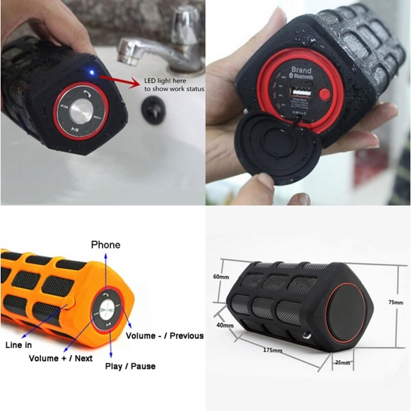 High Quality Portable OEM Latest Waterproof Bluetooth Speaker