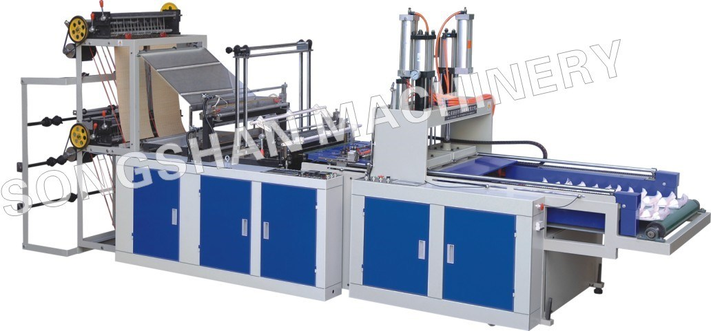 High Speed Four Line Cold Cutting T-Shirt Bag Maker (SSC-1000F)