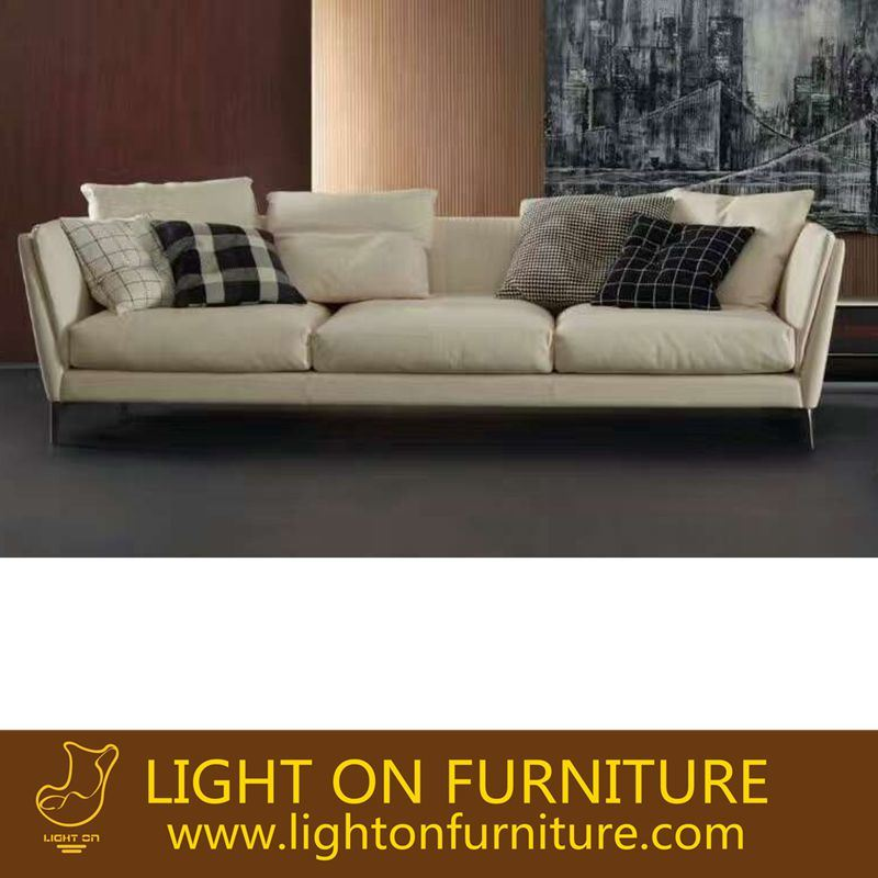 China Factory Manual Leisure Sofa with Leather (L036A)
