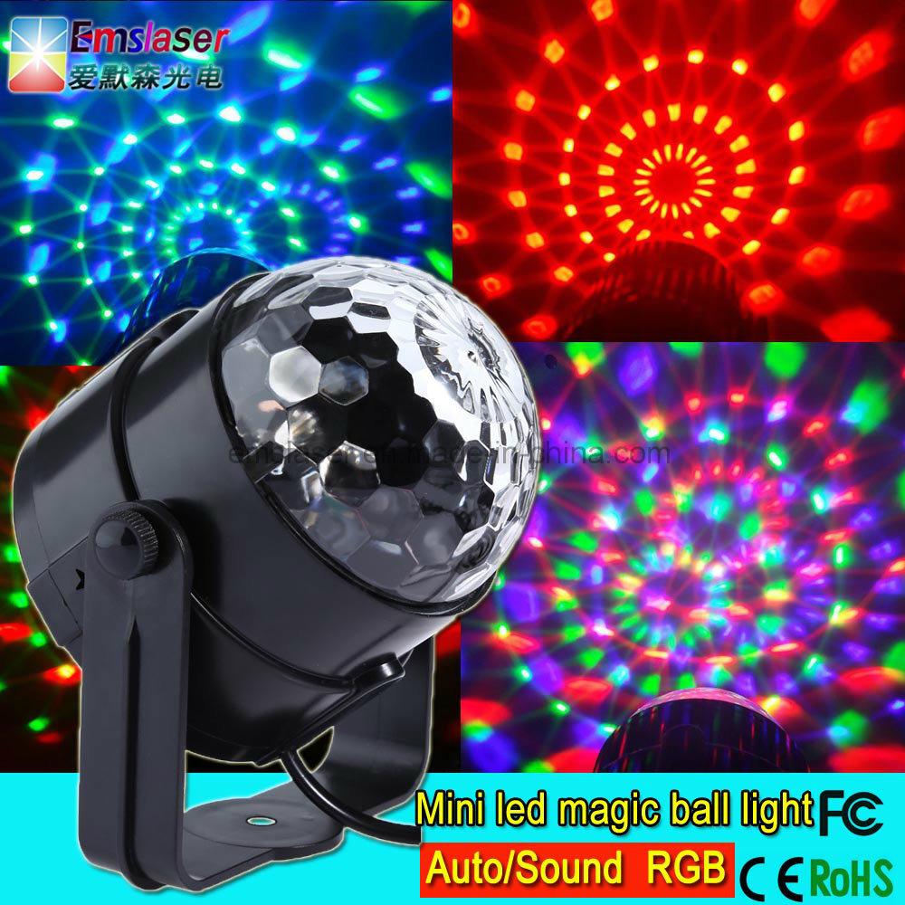 Mini LED Disco Light RGB 3W LED Mini Magic Ball Party Light Manufacturer
