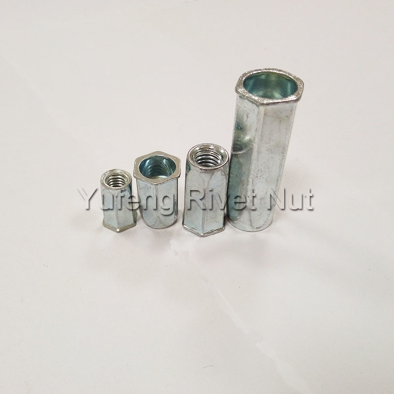 Carbon Steel Small Hex Head Full Hexagon Rivet Nut