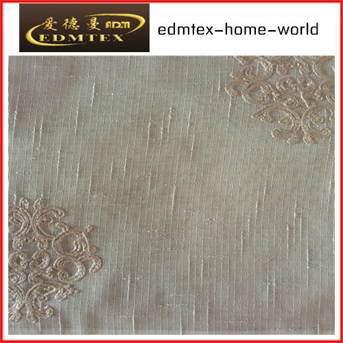 Fashion Embroidered Organza Curtain Fabric EDM2037