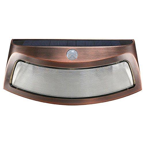 PIR Motion Sensor Solar Smiling Wall Lamp, Waterproof Garden Lamp