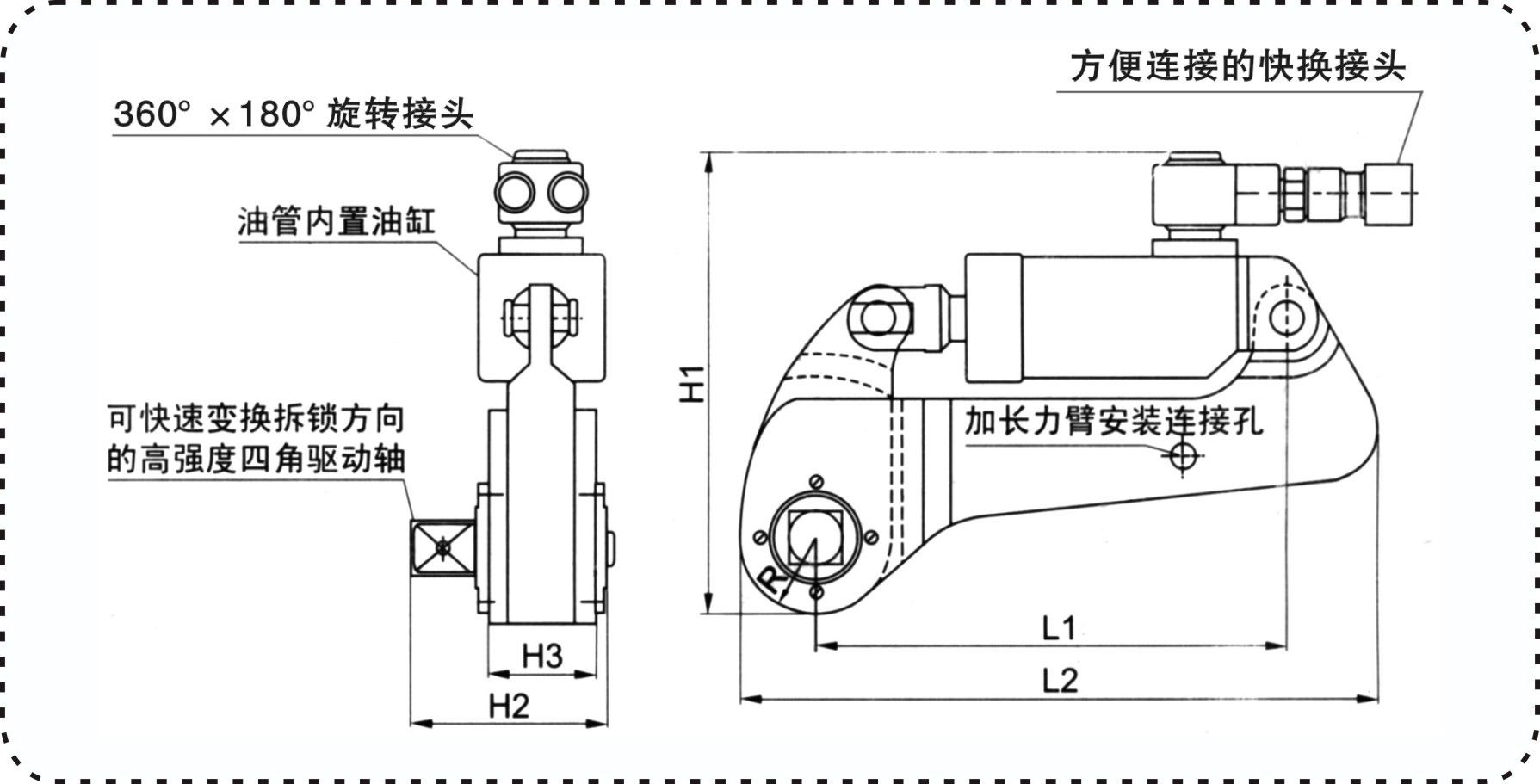 High Quality Square Drive Hydraulic Torque Spanner Wrench