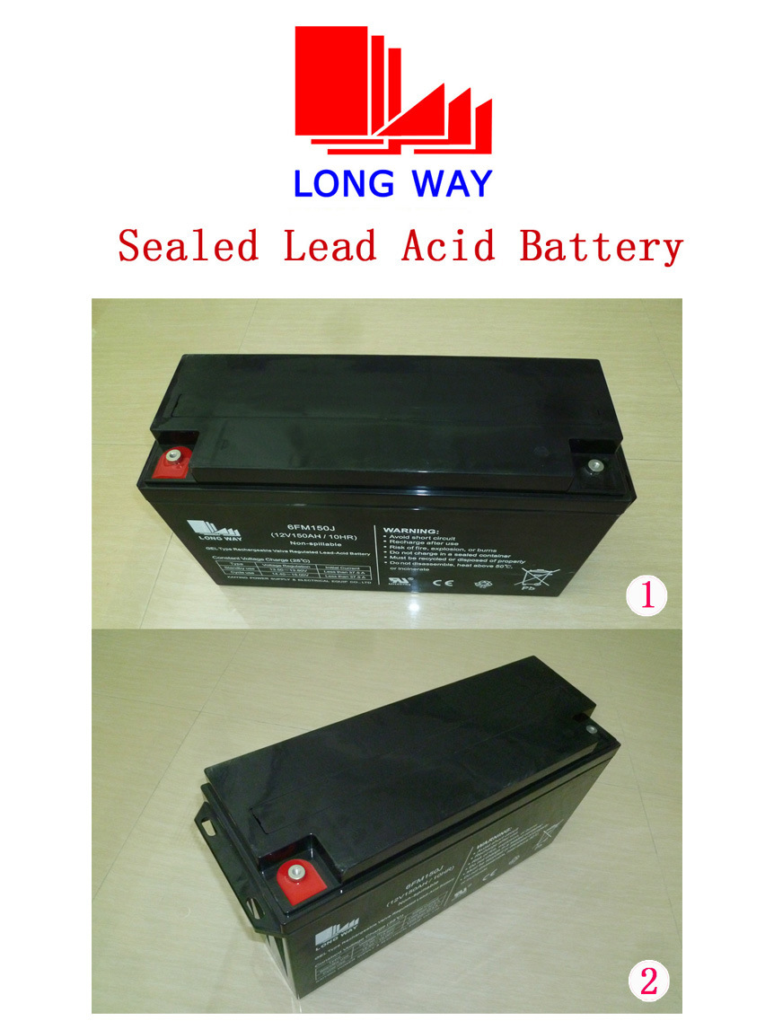 12V150ah Gel Storage/Deep Cycle Battery for Solar System