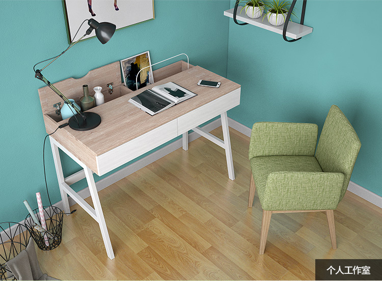 Computer Desk with PC Table in Wooden with Large Storage