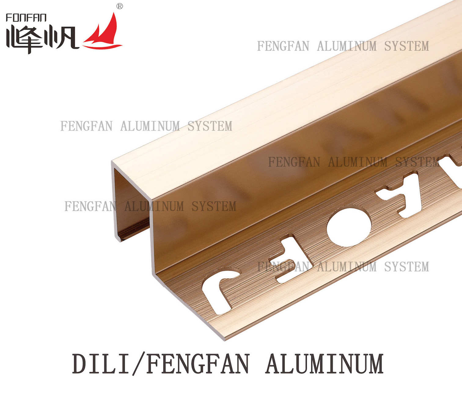 Build Material Titanium Color Square Tile Trim