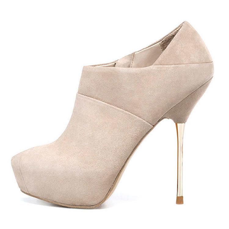 lotoyo free shipping metal heel high platform ankel shoes