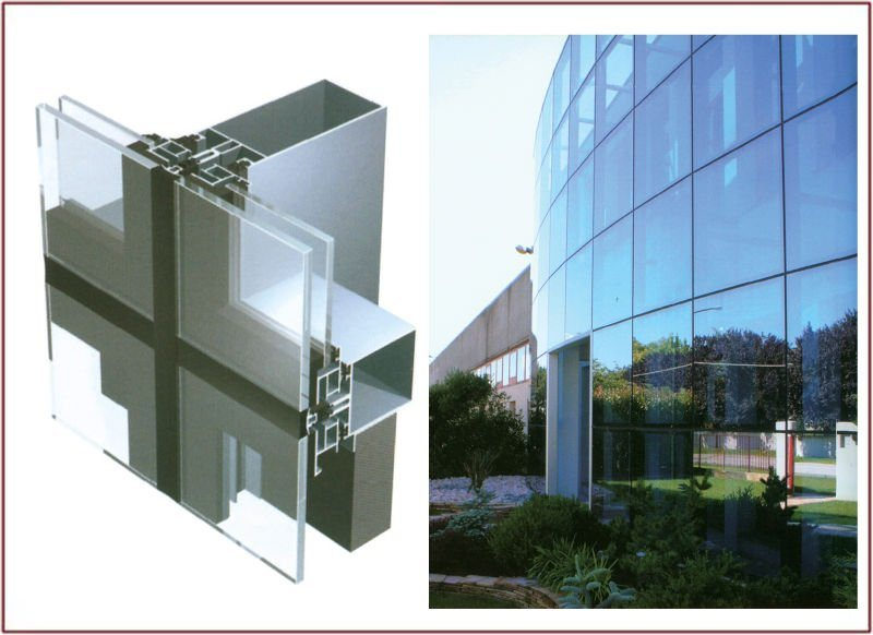 China Sg50 Aluk System Curtain Wall China Curtain Wall Glazed Curtain Wall