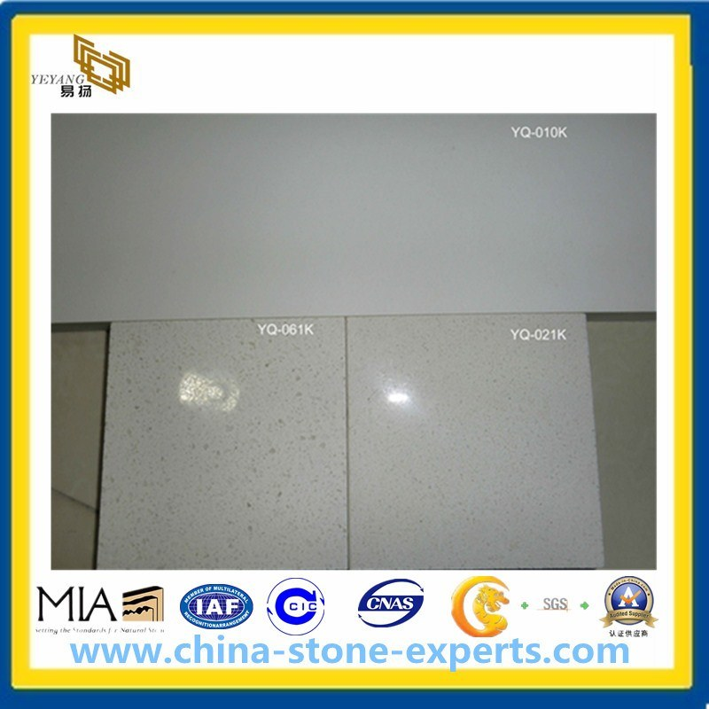 Pure White Kitchen and Bathroom Quartz Stone Engineered Stone