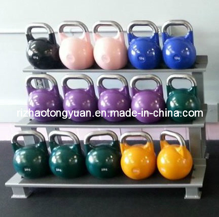 Colorful Competition Kettlebell with Polished Handle