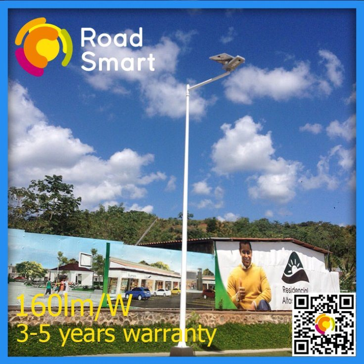 Outdoor 15W All in One Solar LED Street Light with Motion Sensor