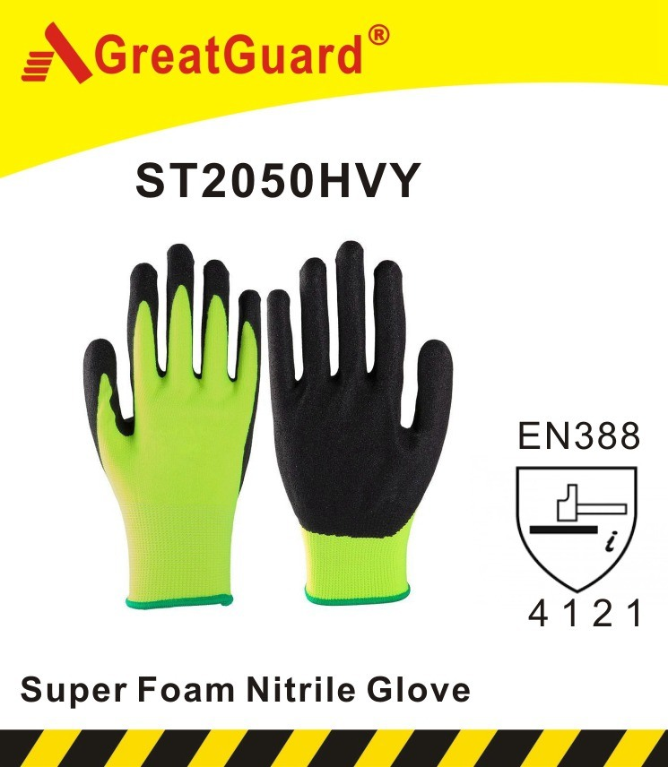Sandy Nitrile Glove-Hi-Vis Yellow (ST2050HVY)