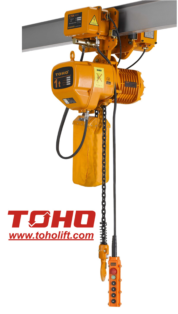 Hhb Series Electric Chain Hoist With Motor Trolley China