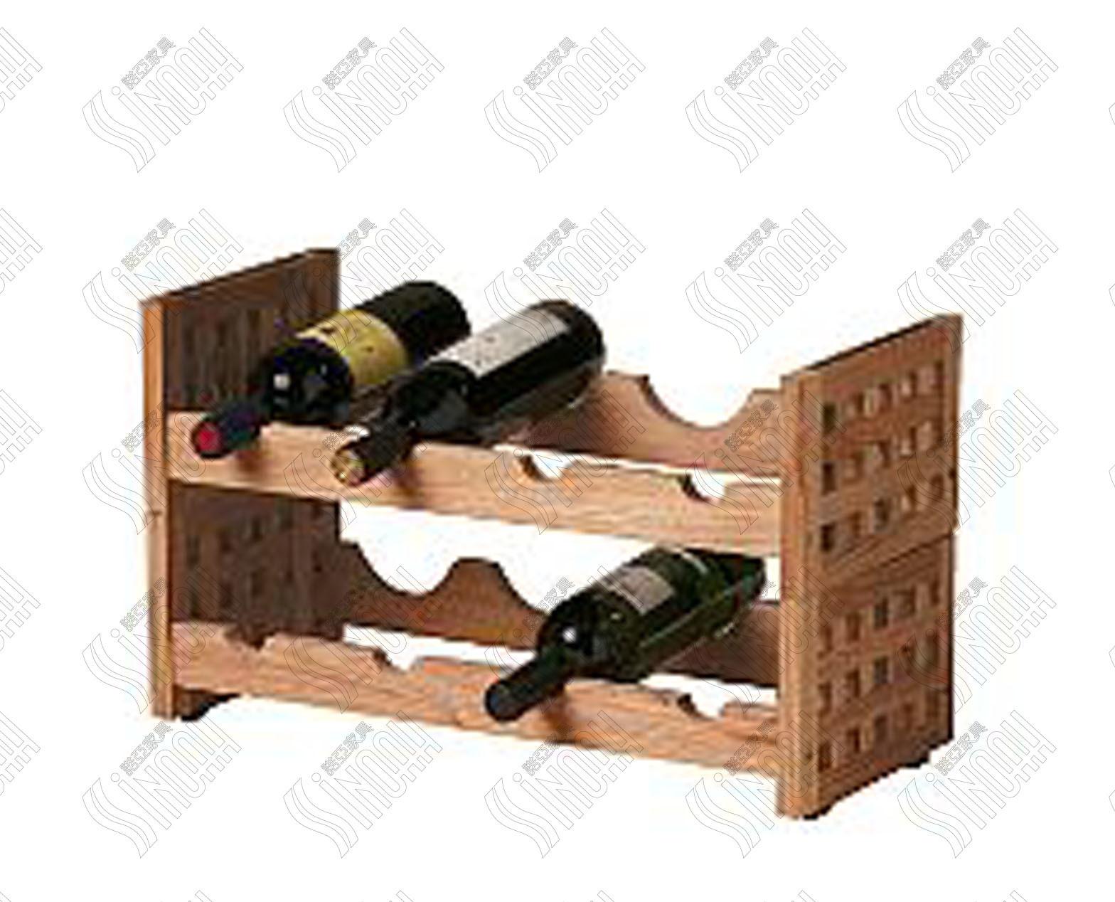 China mainland sinoah solid oak wooden wine rack mes