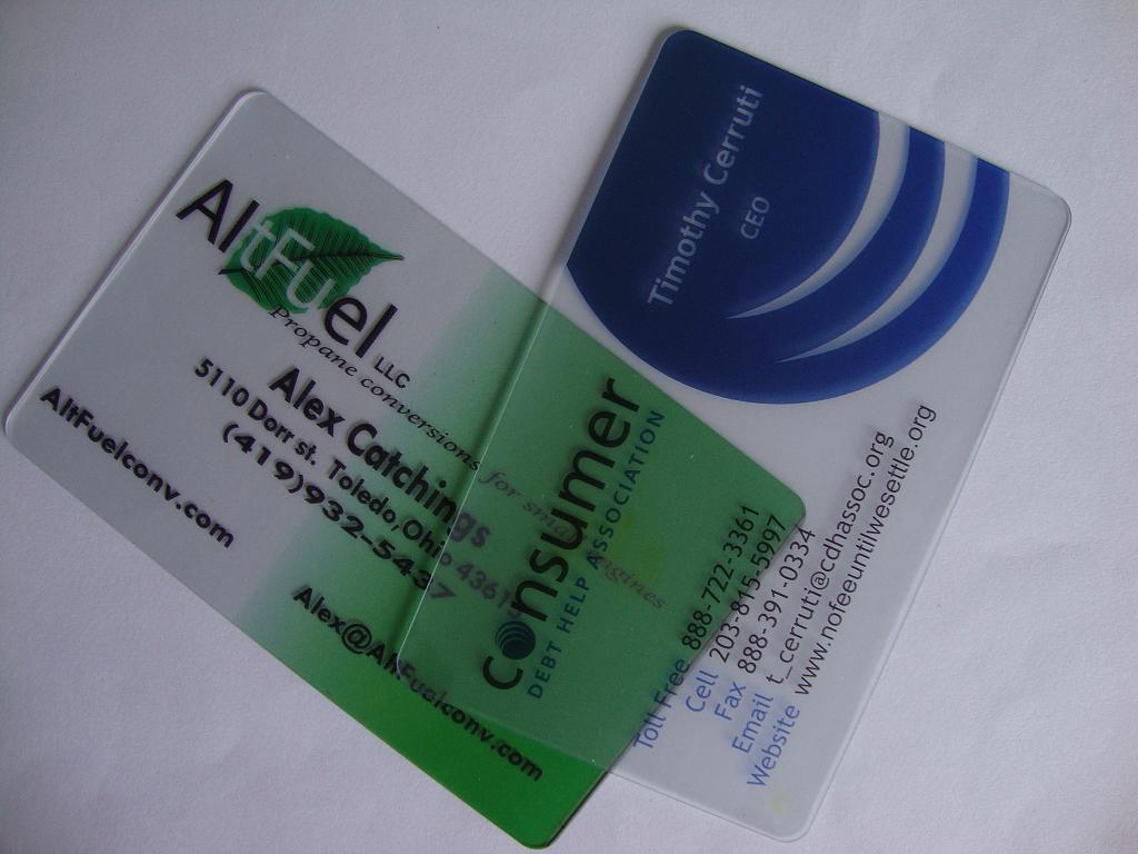 China Matte Transparent Card Transparent Business Card