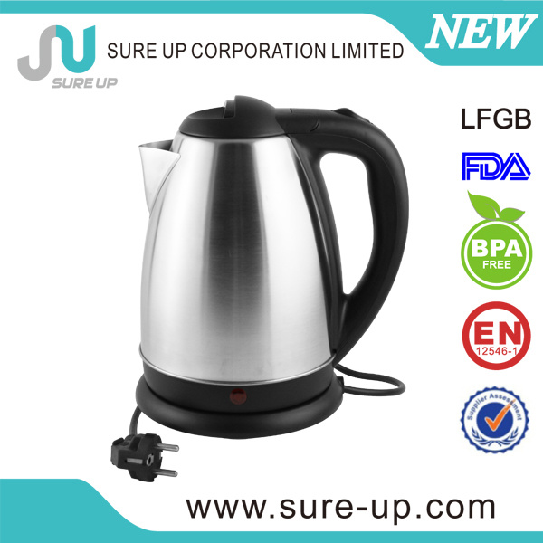 Single Wall Stainless Steel Electric Water Kettle 1.8L