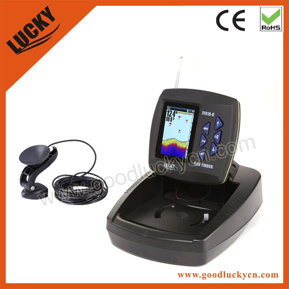 2015 New Color Display Transducer Boat Fish Finder (FF918-C100T)