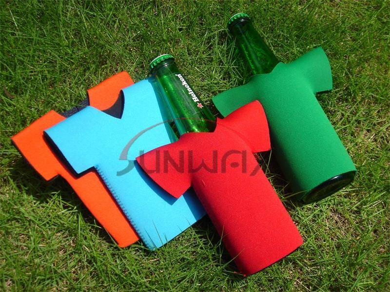Promotional T-Shirt Beer Bottle Cooler, Neoprene Bottle Koozie, Bottle Sleeve (BC0047)