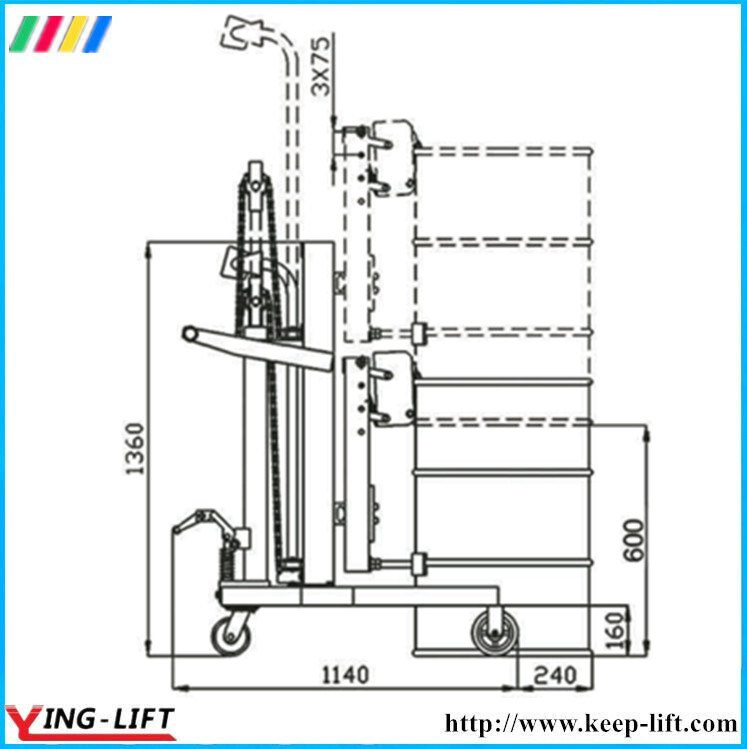 Hydraulic Drum Carriers, Scale Model Dtf450A-1