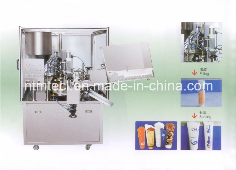 Plastic Tube Filling and Sealing Machine with Inner Heating for Cosmetics, Cream, Paste, Toothpaste Packing
