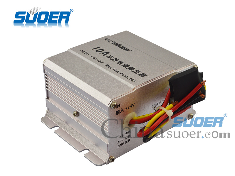 Car Power Transformer DC 24V to 12V Car Power Supply Transformer (SE-10A)
