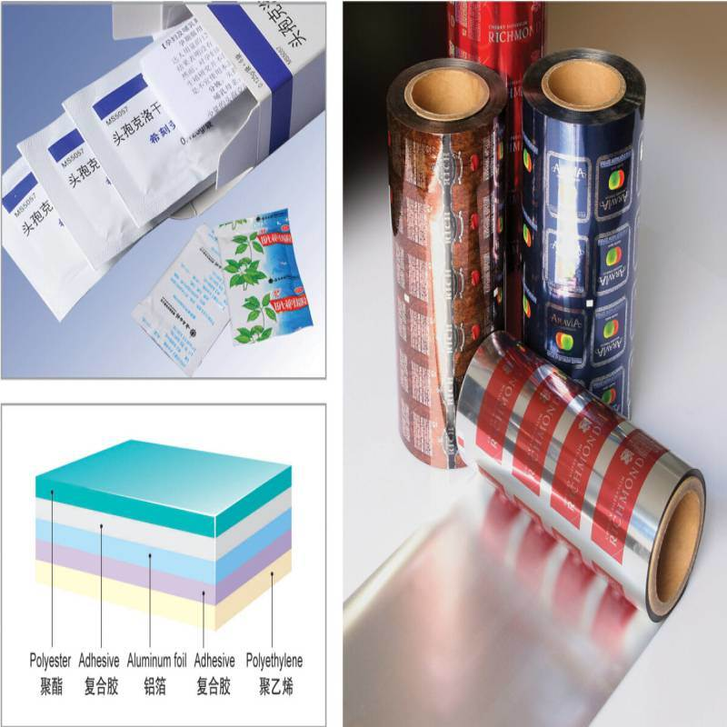 Pet/Al/PE Laminated Strip Pack Aluminum Foil for Sachets