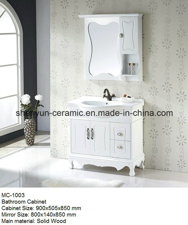 Bathroom Furniture Bathroom Cabinet with Ceramic Wash Basin (MC-1003)