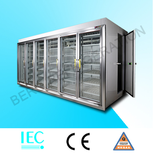 Factory Price Walk in Glass Door Freezer